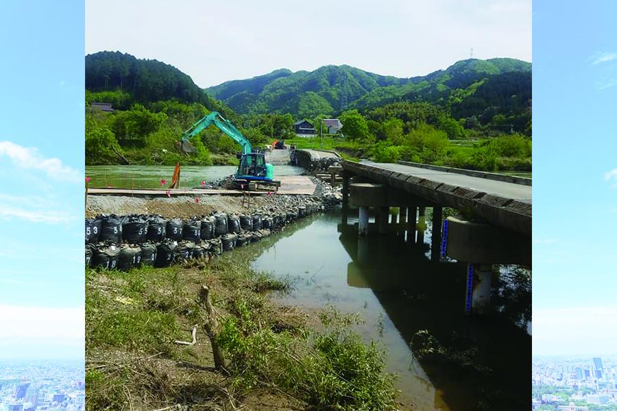 福知山 橋の解体